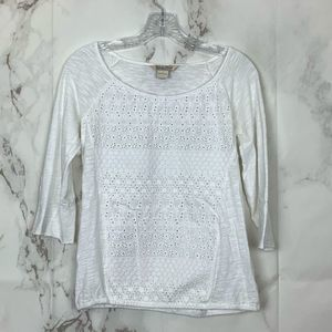 Lucky Brand Scoop Neck Lace T-Shirt